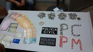 Homem é preso com cocaína, crack e maconha em Barra de Santa Rosa