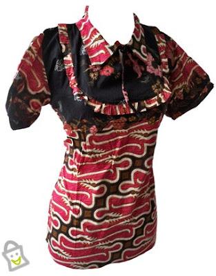 Gaun Pesta Campuran Korea - Batik, Baju Pesta Campuran Korea - Batik