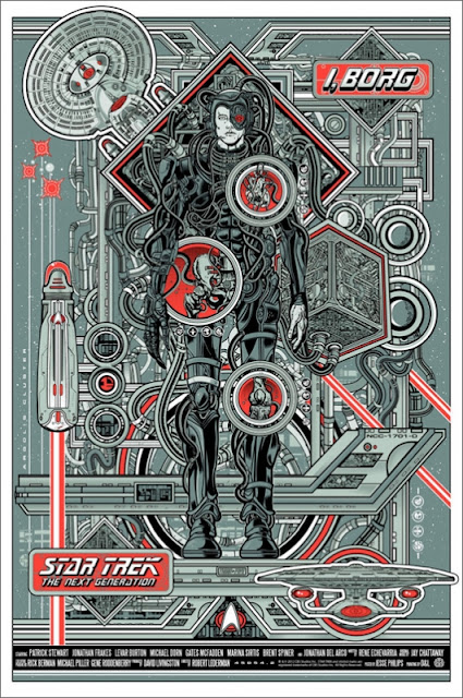 "Mondo - Star Trek: The Next Generation ""I, Borg"" Metallic Variant Edition Screen Print by Jesse Philips"
