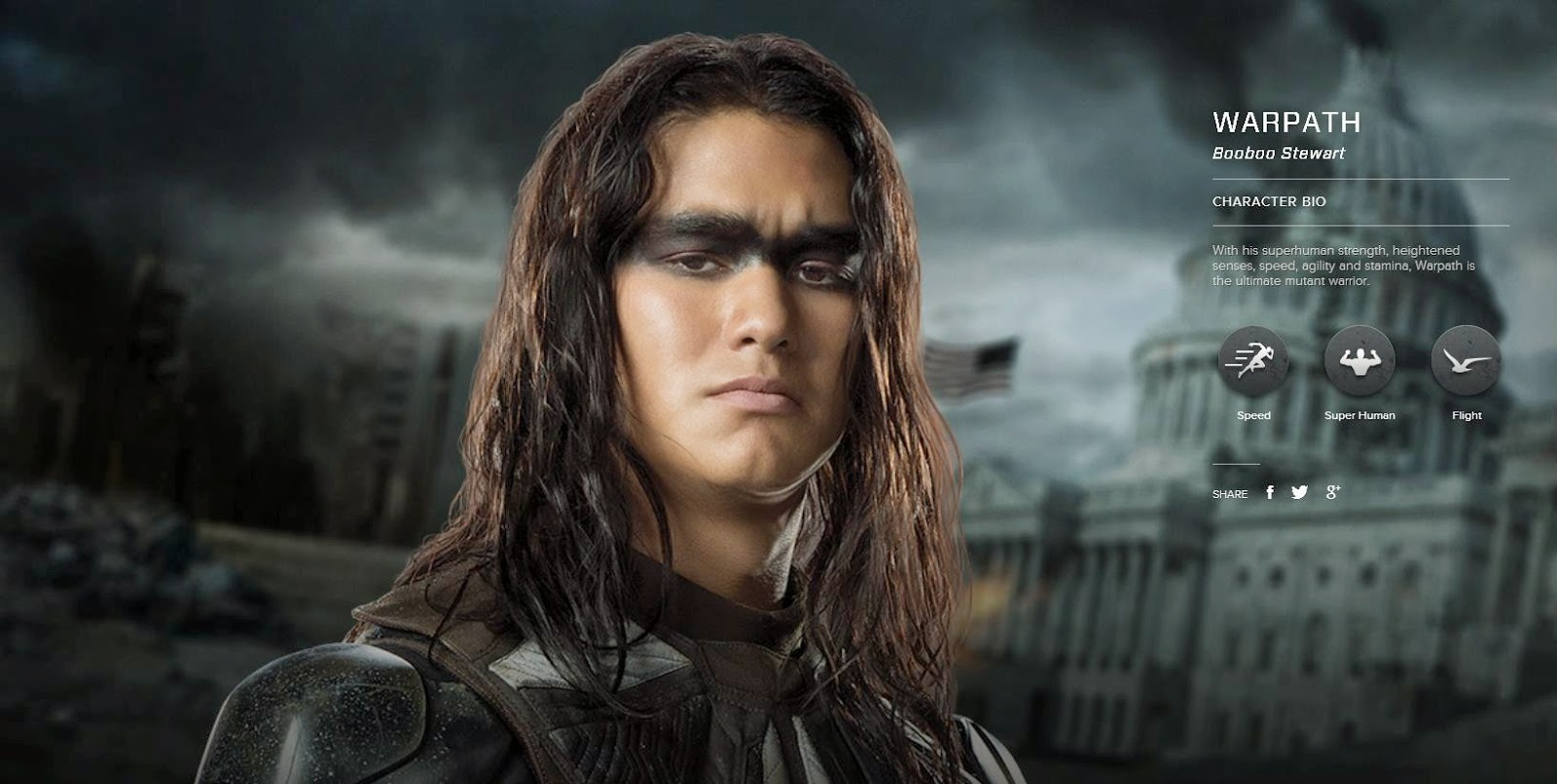 Email This BlogThis  Share to Twitter Share to Facebook Share to    X Men Warpath Booboo Stewart