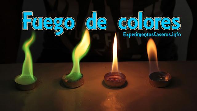 fuego de colores, experimentos de química, experimentos caseros, experimentos sencillos