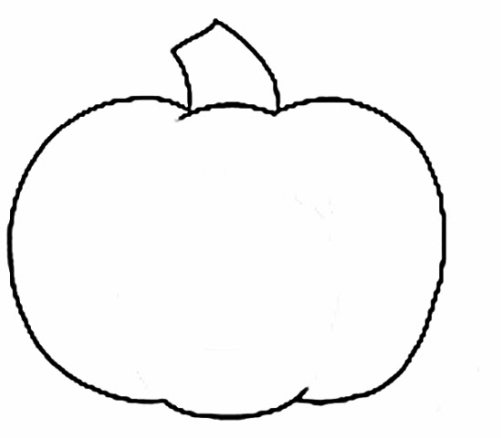 Delicate image with regard to printable pumpkin outline