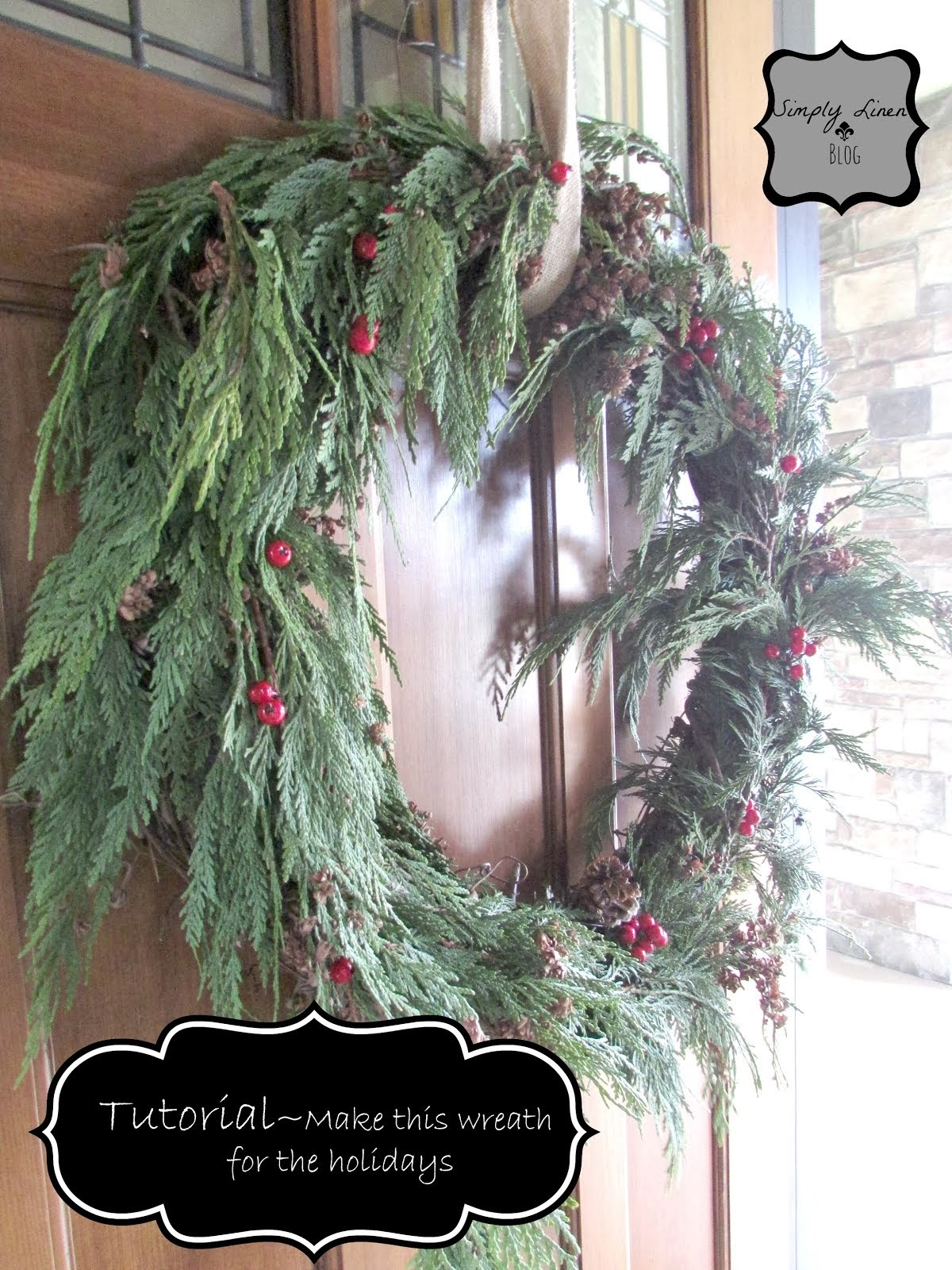 DIY Fresh Greenery Wreath