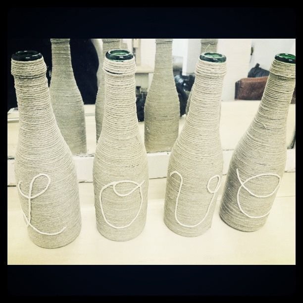 Arte y arquitectura decoraci n vintage con botellas for Antique arte y decoracion