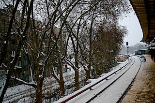 Station de S-Bahn sous la neige - Berlin