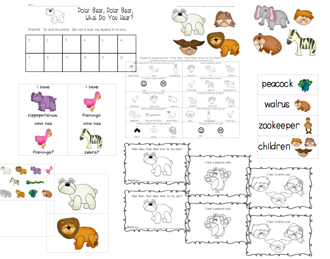comprehension, sequence, and retell the story of Polar Bear, Polar ...