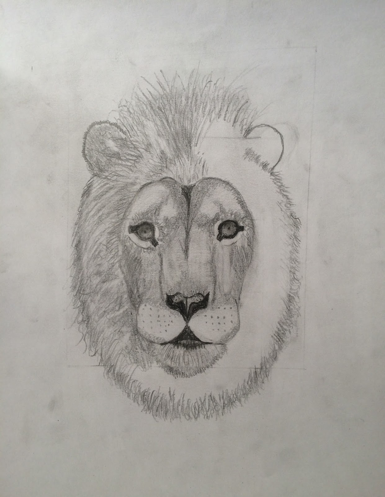 Step 2 On The Lions Face Repeat What You Did To Right Side Make Sure That Lines Arent Same All Messy And Different