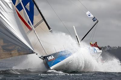 Paul Meilhat et SMA en stage au Pole Finistère Course au Large.