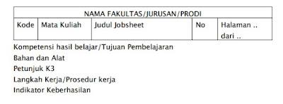 Format Job Sheet