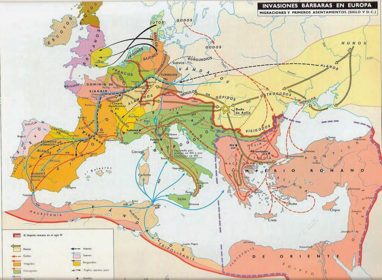 Invasiones Bárbaras en Europa