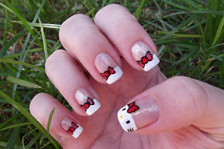 Hello Kitty Nails Designs