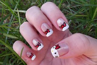 Hello Kitty Nails Designs