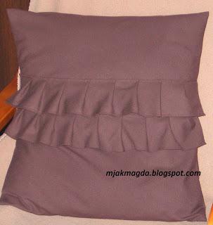 ozdobna poszewka, poszewki, poduszka, pillow, czekolada, frills, chocolate, falbanki,