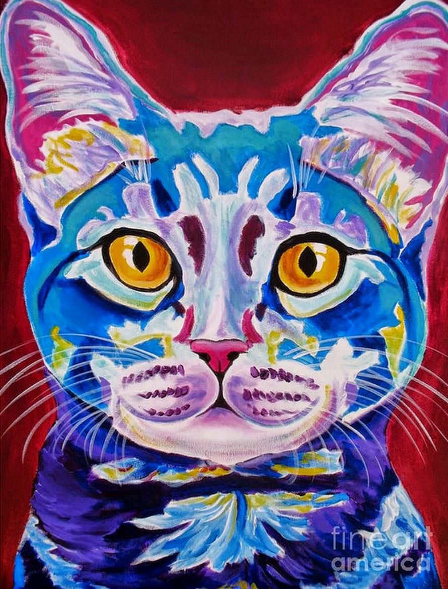 Cuadros modernos pinturas y dibujos tres pintores que - Cuadros modernos con mucho color ...