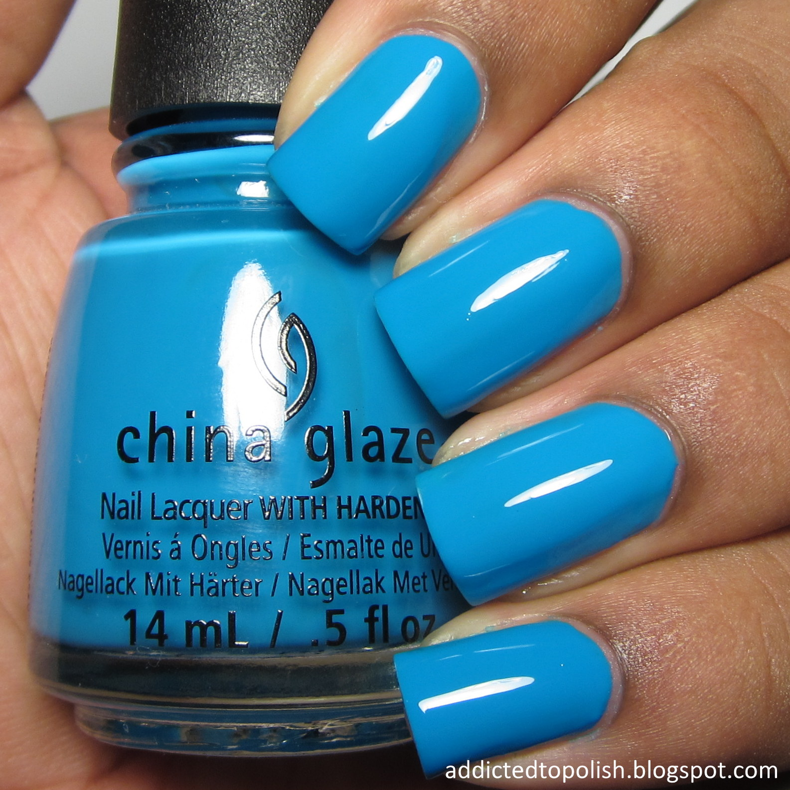china glaze dj blue my mind summer 2015 electric nights