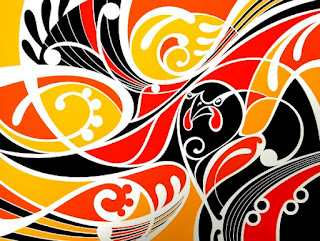 Ataahua Tieke print by Shane Hansen (Gold colourway)