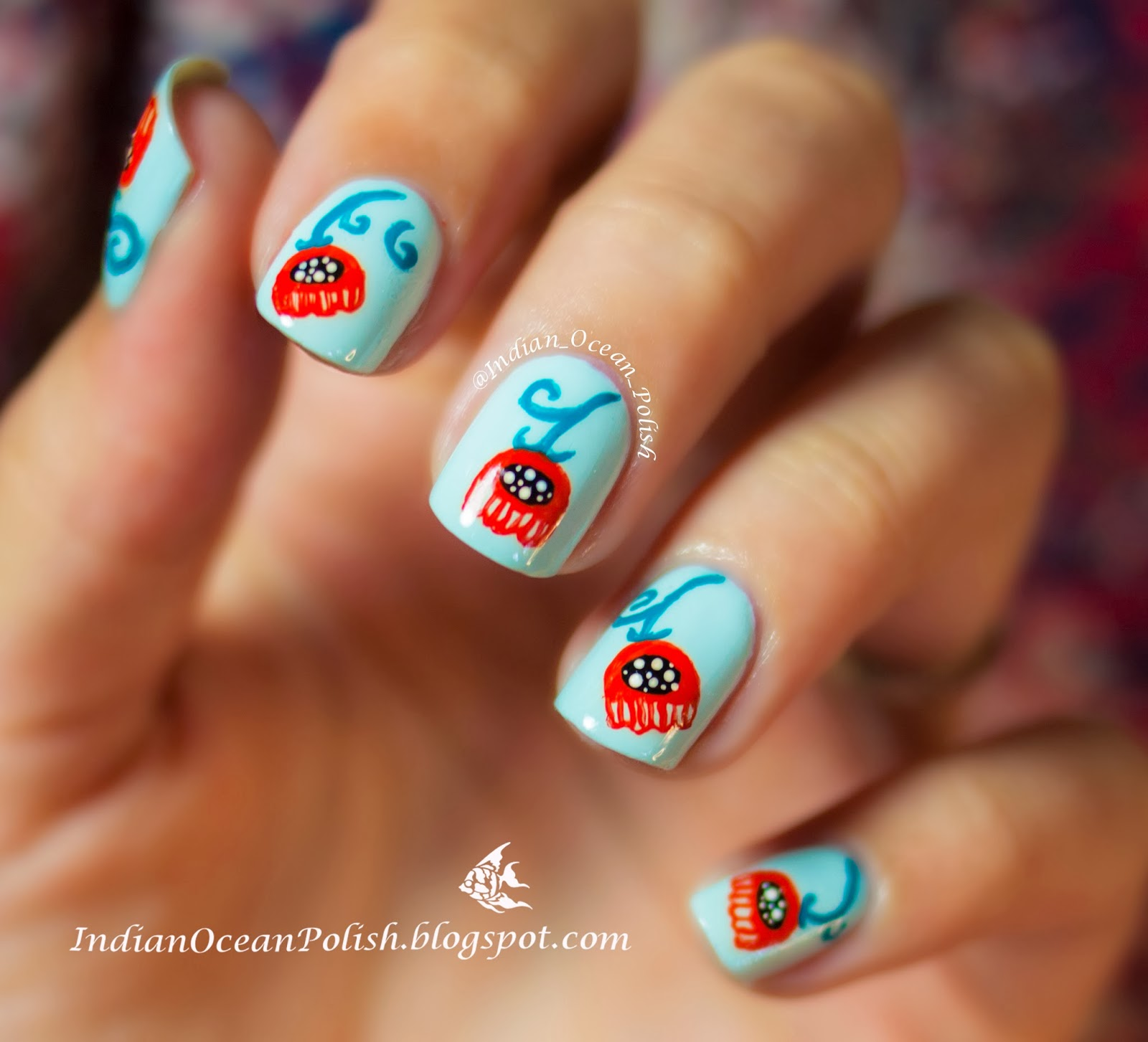 Finger Nail Paint: Indian Ocean Polish: Remembrance Day Poppies