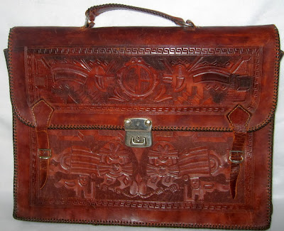 Western Vintage Hand Tooled Briefcase