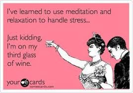 Meditation or wine for relaxation