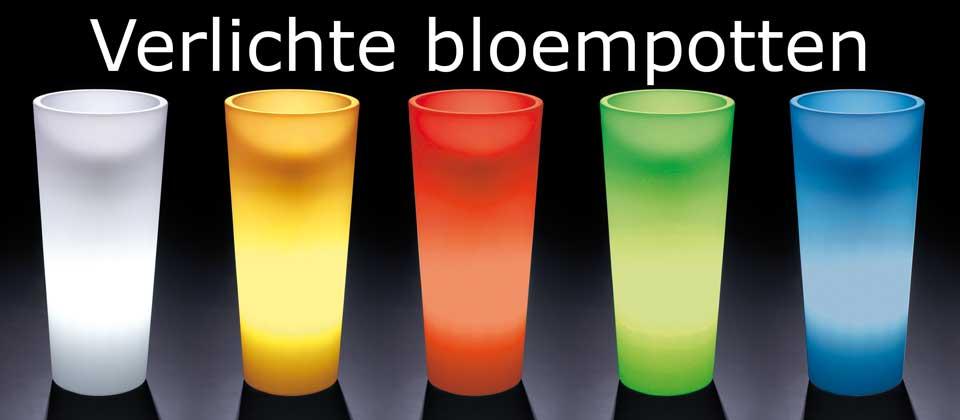 Verlichte bloempotten: Bloempot met verlichting - wisselende kleuren