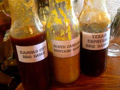 Homemade BBQ sauces, Hangfire Smokehouse, Cardiff