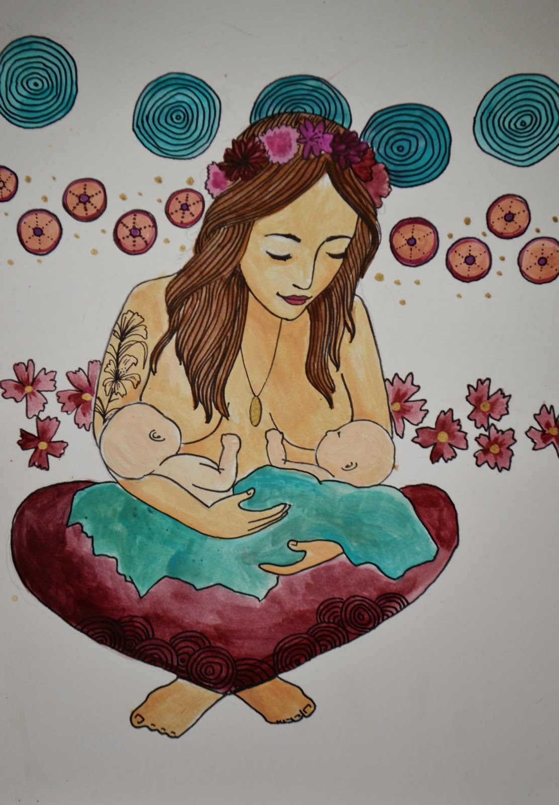 breastfeeding twins breastfeeding art spiritysol catie atkinson