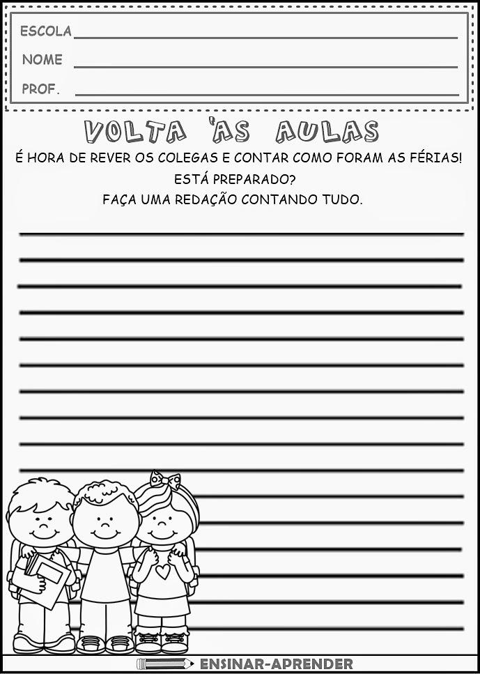 ATIVIDADES DE VOLTA ÀS AULAS - 10 ATIVIDADES