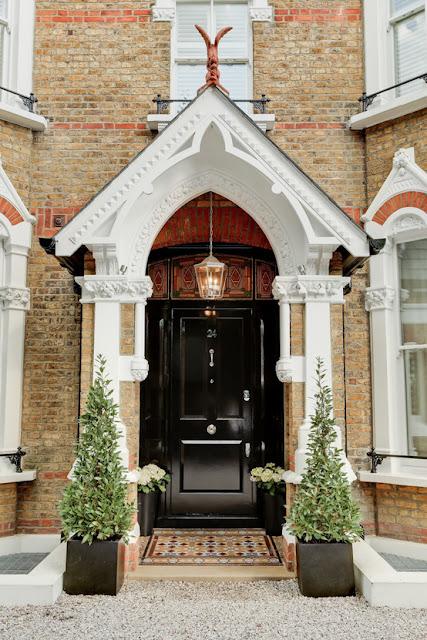 black period style front door