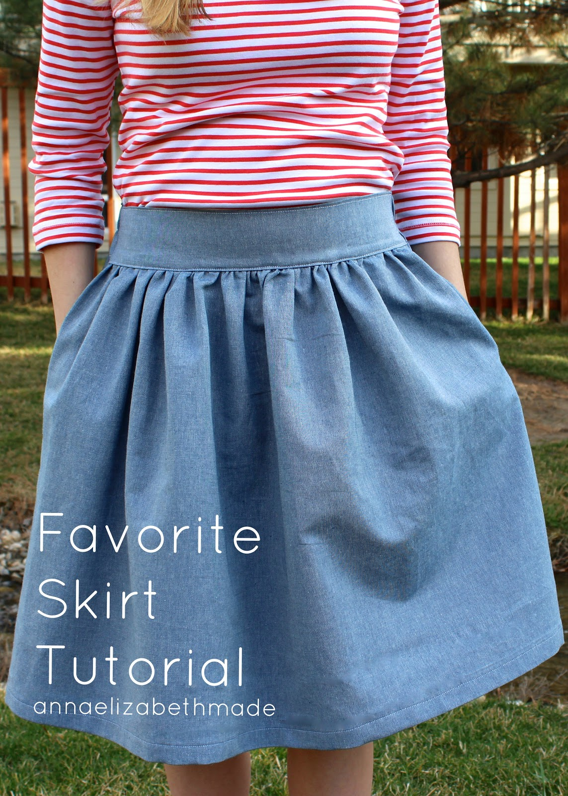 Anna Elizabeth Made My Favorite Skirt Tutorial