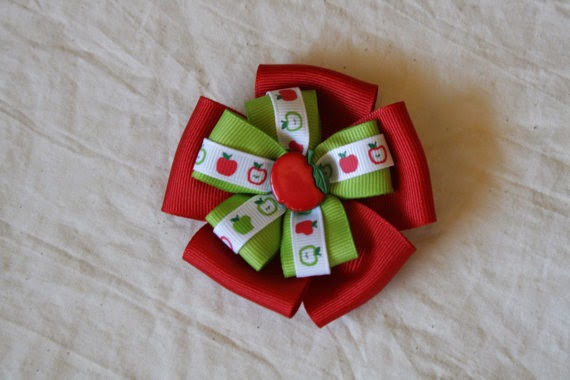 apple hair bow
