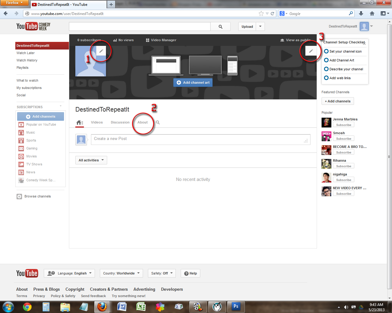 you tube how to change por ject cartidge