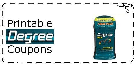 Degree deodorant printable coupons
