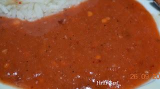 Chicken shashlik| Sauce| Rice| Boiled rice| Spicy| Snacks| Meal| Capsicum| Onion| Tomato| Shashlik sticks| Tomato sauce| Tomato chutney