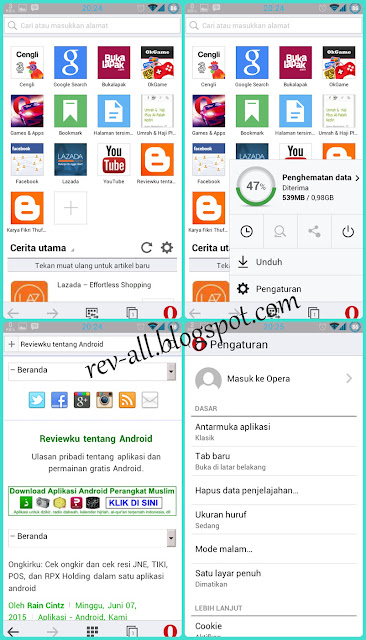Screenshot tampilan aplikasi opera mini (new) baru android - reviw oleh rev-all.blogspot.com