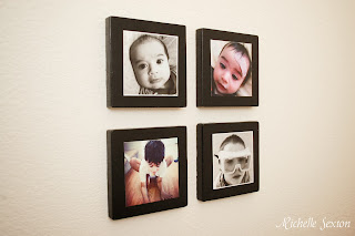 side view of mounted Instagram Photos