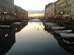 O Canal Grande em Trieste