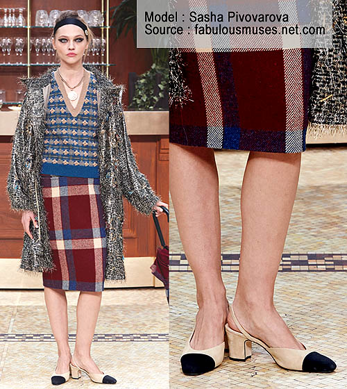 Sepatu Chanel The Two Tone Sling Back