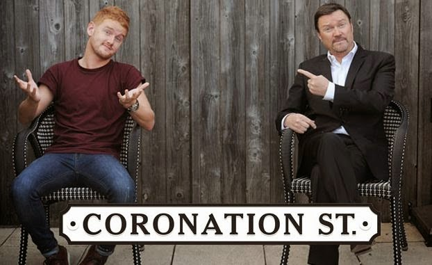 see corrie's owen and gary on stage in ireland