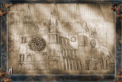"""Notre Dame di Chartres """"Illustrazione"""""""