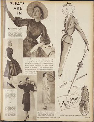 Paris fashion in July 1950 Australian Women's Weekly
