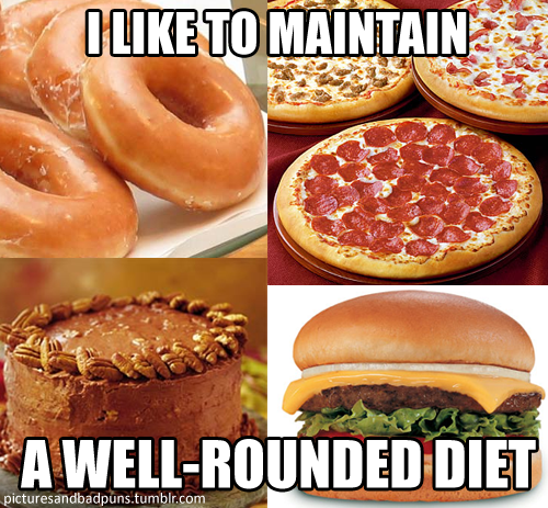 I Like To Maintain A Well-Rounded Diet