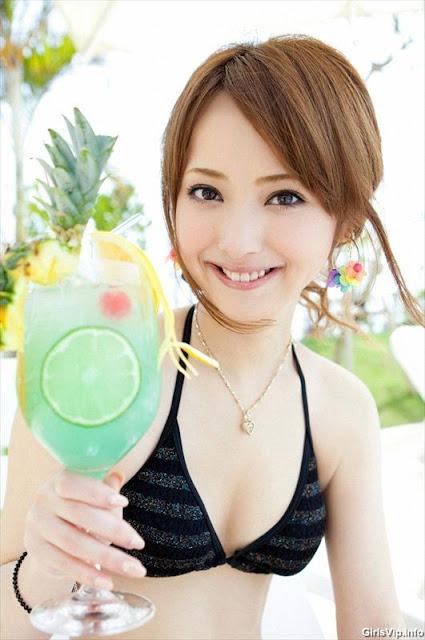nozomi sasaki Black Bikini photos Collection 1