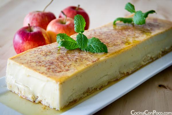 Flan de manzana - Receta paso a paso