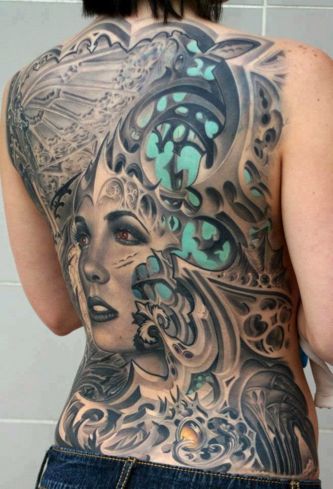 ♥ ♫ ♥ Gorgeous Inked Tattoo, Body Art On Woman Back ♥ ♫ ♥