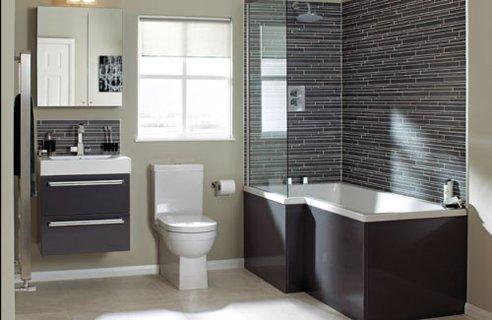 Decoraci n de ba os grises colores en casa for Decoracion banos azulejos grises