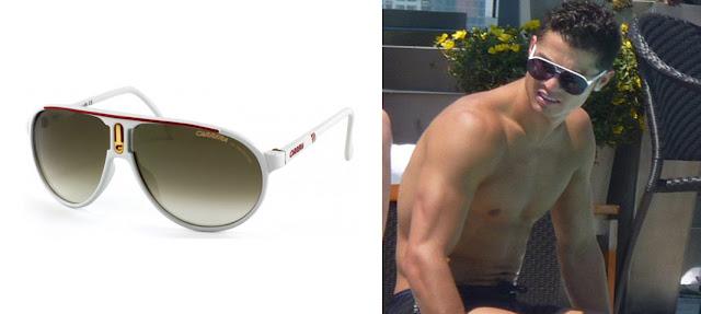 Gafas de sol modelo Champion de Carrera y Cristiano Ronaldo con gafas de sol Champion de Carrera