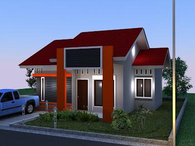 desain rumah type 45 1 lantai