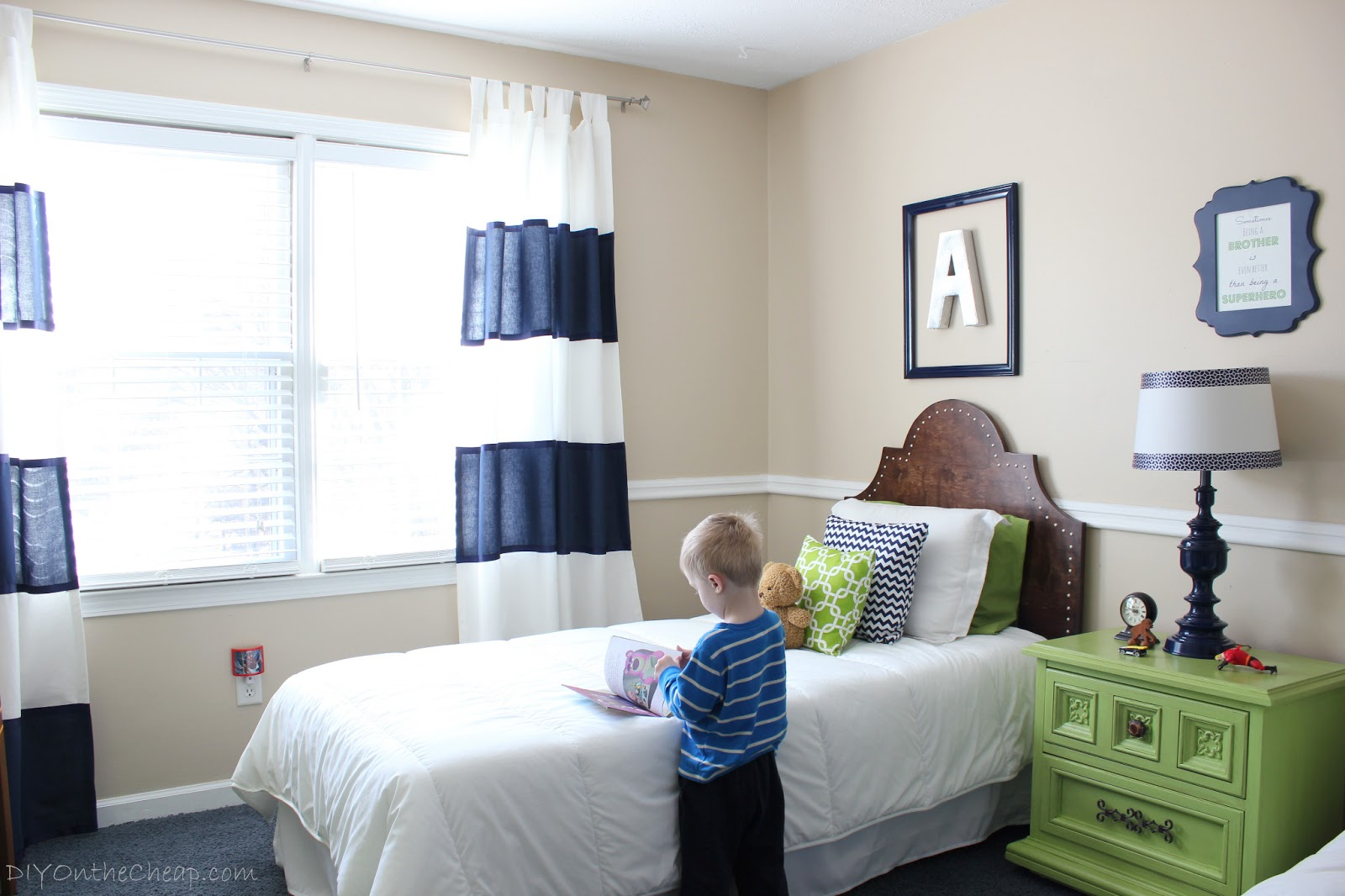 Big boy room transformation reveal erin spain for Room decor for 5 year old boy