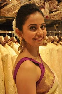 Rakul Preet Singh Beautiful Saree Photo