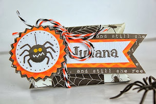 SRM Stickers Blog - Juliana Michaels - #halloween #spider #digifile #free #stickers #twine #clearboxes #pillowbox #purse #tag